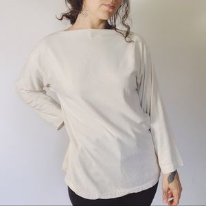 ELIZABETH SUZANN Eva Tee in Raw Silk Broadcloth